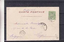 France - Carte Postale De 1899 - Imprimé - Oblit Ajaccio Corse - Exp Vers Liège - Vue Vieux Port De Bastia - 1898-1900 Sage (Type III)