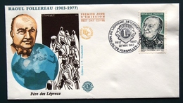 FRANCE 1987 LIONS CLUB  FDC FIRST DAY COVER ERSTAUSGAG UMSCHLAG GESTEMPELT RAOUL FOLLEREAU 22 05 1987 - Rotary, Lions Club