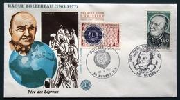 FRANCE 1987 LIONS CLUB  FDC FIRST DAY COVER ERSTAUSGAGE UMSCHLAG GESTEMPELT RAOUL FOLLEREAU 26 01 1987 - Rotary, Lions Club