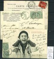Lettres  Cachet  Convoyeur Genève à Gex - à Macon Et Retour - 3 Piéces - Postmark Collection (Covers)