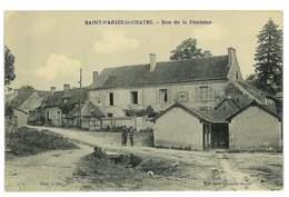 CPA 58 SAINT-PARIZE-LE-CHATEL RUE DE LA FONTAINE - Francia