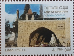 Lebanon NEW 2018 MNH Stamp, Our Lady Of Mantara, Maghdouche, Saint Mary Holly Month - Lebanon