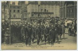 (Vienne) Concours National De Sapeurs-Pompiers Des 3, 4 Et 5 Juin 1911 . Défilé, Place De Miremont . - Vienne