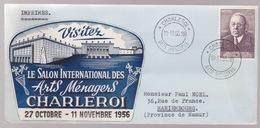 Enveloppe. Charleroi Arts Ménagers. 10/11/56V - Belgium