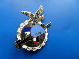 2 ° RCS  FORPRONU 1° Mandat , Insigne Train  , Insigne , JYS - Armée De Terre