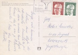 Germany Berlin Postcard Sent To Yugoslavia 1972 - Berlin (West)