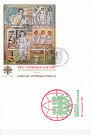 VATICAN Bloc Feuillet Sur Enveloppe Surchargé  BF 17A - Caritas Internationalis -  FDC - Côté 40€ - FDC
