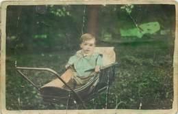D1285 Photo Postcard Baby Cart Bebe - Fotografía