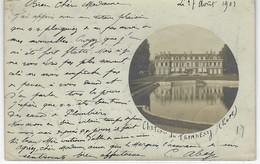 CPA 27 ( Eure ) - Chateau Du TREMBLAY ( CARTE PHOTO ) Chateau Dans Un Cercle - 1903 - Destinataire : Marquise De Magny - France
