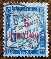 MAROC - Colonie Française - YT Taxe N°1 - 1896 - Oblitéré - Maroc (1891-1956)