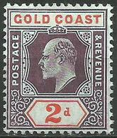Gold Coast - 1902 King Edward VII 2d MLH *    Sc 40  SG - Gold Coast (...-1957)