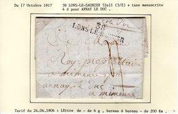 JURA : 38 LONS LE SAUNIER Sur LAC E N 1817 - 1801-1848: Précurseurs XIX