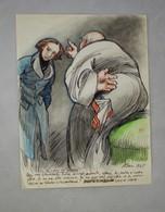 Dessin Original De Ferdinand Bac (1859-1952) 1945 La Puissance Des Ténèbres - Dibujos
