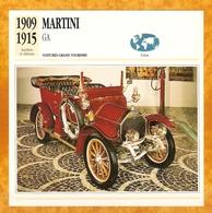 1909 SUISSE VIEILLE VOITURE MARTINI GA - SWISS OLD CAR -  SVIZZERO VECCHIA AUTOMOBILE - SUIZA VIEJO COCHE - Auto's