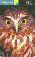 NEW ZEALAND $5 OWL BIRD BIRDS CHIP ED.05/2008 READ DESCRIPTION !! - New Zealand