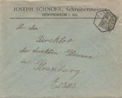 Env Affr Y&T 130 Obl DUPPIGHEIM Du 5.1.20 Adressée à Strasbourg - Postmark Collection (Covers)