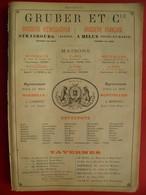PUB 1897 - Brasserie Gruber Koenigshoffen & Melun; Brosses Vany Charleville; Cages Fil De Fer F.A. Bernard Chalons/Marne - Pubblicitari