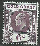 Gold Coast - 1902 King Edward VII 6d MLH *    Sc 43  SG 43 - Gold Coast (...-1957)