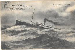 DOUKKALA Cie Paquet - Transformé En NAVIRE HOPITAL - Carte Postée A BORD Du DOUKKALA 7/9/1914 Maroc > Marignane - Guerra