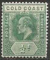 Gold Coast - 1907 King Edward VII 1/2d MLH *    Sc 56  SG 59 - Gold Coast (...-1957)
