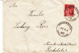 Env Affr Y&T 283 Obl DIEMERINGEN Du 17.4.1933 Adressée à Neunkirch - Poststempel (Briefe)