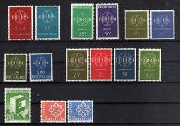 Europe 1959 Complete Set Europa Union CEPT Annata Completa Nuovi Luxury - 1959