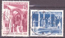 Yugoslavia, 1955,used (o) Mi 761-762 - 1945-1992 République Fédérative Populaire De Yougoslavie