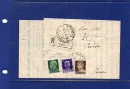 ##(DAN184/1)-1935-  Piego Raccomandato R.R. Completo Di Testo Da Penne Per  La Città - Marcophilia