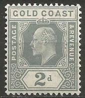 Gold Coast - 1909 King Edward VII 2d MLH *    Sc 58  SG 61 - Gold Coast (...-1957)