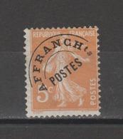 FRANCE / 1922-1947 / Y&T Préo N° 50 : Semeuse 5c Orange - Sans Gomme - 1893-1947