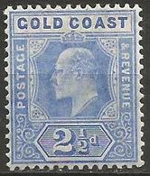 Gold Coast - 1907 King Edward VII 2.5d MLH *    Sc 59  SG 62 - Gold Coast (...-1957)