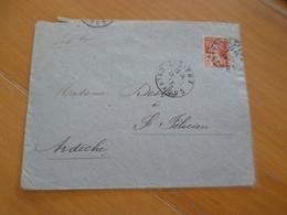 Lettre France Semi Moderne TP N°147 Seul Sur Lettre Lisieux Pour Saint Félicien - Postmark Collection (Covers)