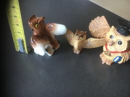 3 Petites CHOUETTES DE COLLECTION - Animals
