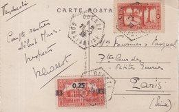 """ALGERIE : CP . DES MINES .  OBL . """" OUENZA """" . 1939 . - Algérie (1924-1962)"""