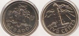 Barbados 5 Cents 1988 Km#11 - Used - Barbados