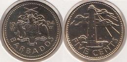 Barbados 5 Cents 1994 Km#11 - Used - Barbados