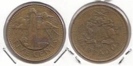Barbados 5 Cents 1998 Km#11 - Used - Barbados