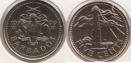 Barbados 5 Cents 1999 Km#11 - Used - Barbades