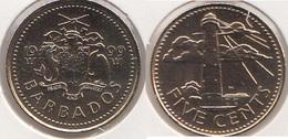 Barbados 5 Cents 1999 Km#11 - Used - Barbados