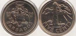 Barbados 5 Cents 2000 Km#11 - Used - Barbados