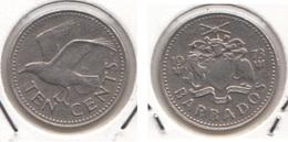 Barbados 10 Cents 1973 Km#12 - Used - Barbados