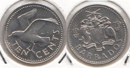 Barbados 10 Cents 1979 Km#12 - Used - Barbados