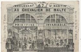 CARTE PUB . AU CHEVALIER DE MALTE. MAISON D'HABILLEMENTS - Reclame