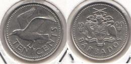 Barbados 10 Cents 1990 Km#12 - Used - Barbados