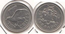 Barbados 10 Cents 1992 Km#12 - Used - Barbados