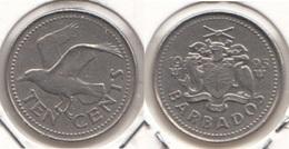 Barbados 10 Cents 1995 Km#12 - Used - Barbados