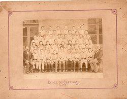 71 : Le Creusot  Photo Ecole écoliers Datée De 1875 - Photos