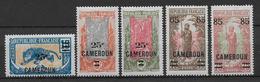 CAMEROUN - YVERT N°101/105 * - COTE = 9 EUR - Cameroun (1915-1959)