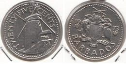 Barbados 25 Cents 1973 Km#13 - Used - Barbados