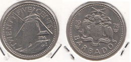 Barbados 25 Cents 1978 Km#13 - Used - Barbados